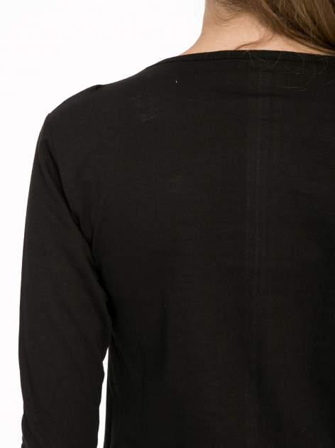 Czarna bawełniana bluzka z motywem kwiatowym                                  zdj.                                  8