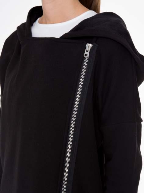 Czarna bluza dresowa z kapturem i suwakiem z boku                                  zdj.                                  12