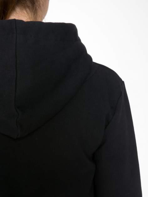 Czarna bluza kangur z kapturem i nadrukiem FÉLINE MEOW                                  zdj.                                  7