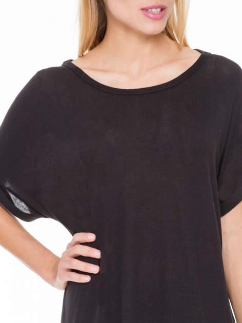 Czarna bluza oversize z dekoltem typu pajęczyna                                  zdj.                                  5