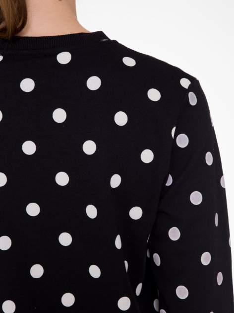 Czarna bluza w grochy z napisem JUST FRIEND                                  zdj.                                  8