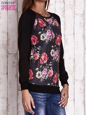 Czarna bluza w kwiaty                                  zdj.                                  3