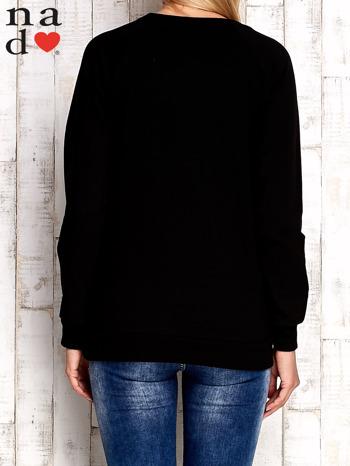Czarna bluza z cekinowym kotem                                  zdj.                                  4