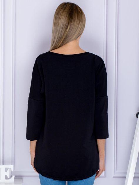Czarna bluza z motywem motyli                              zdj.                              2