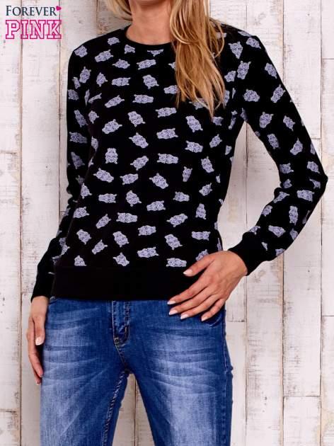 Czarna bluza z motywem sów                                  zdj.                                  1