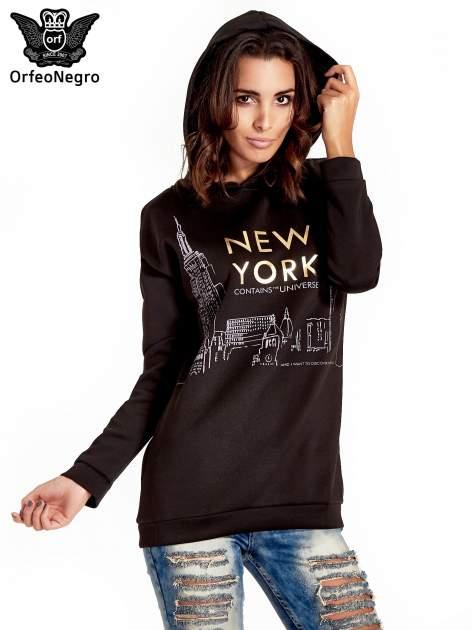 Czarna bluza z nadrukiem NEW YORK                                  zdj.                                  5