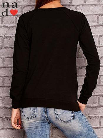 Czarna bluza z napisem ŁOBUZIARA                                  zdj.                                  4