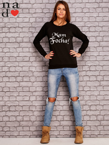 Czarna bluza z napisem MAM FOCHA                                  zdj.                                  2