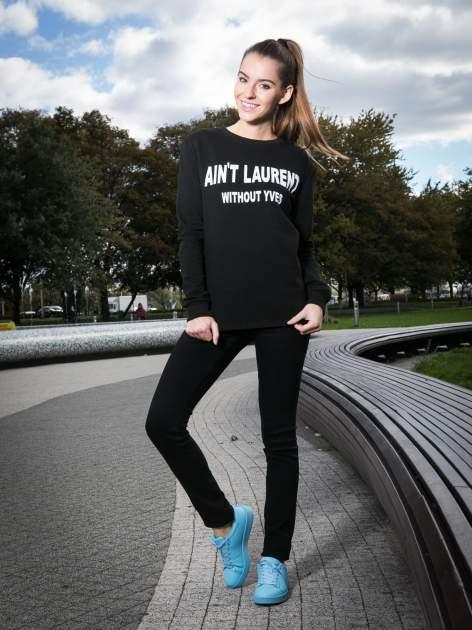 Czarna bluza z narukiem AIN'T LAURENT WITHOUT YVES                                  zdj.                                  9