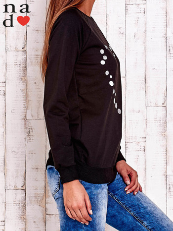 Czarna bluza z wzorem serca                                  zdj.                                  3