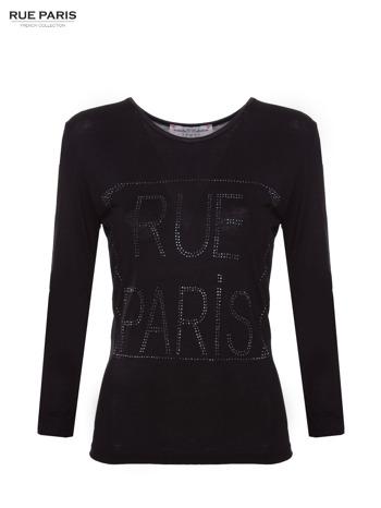 Czarna bluzka RUE PARIS z cyrkoniami