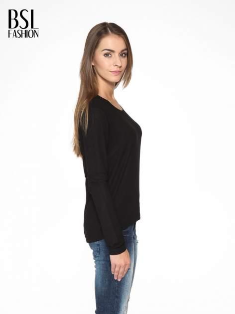 Czarna bluzka z dekoltem cut out                                  zdj.                                  3