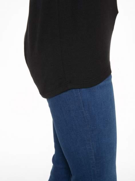 Czarna bluzka z dekoltem na plecach                                  zdj.                                  10