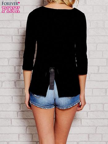 Czarna bluzka z kokardką z tyłu                                  zdj.                                  4