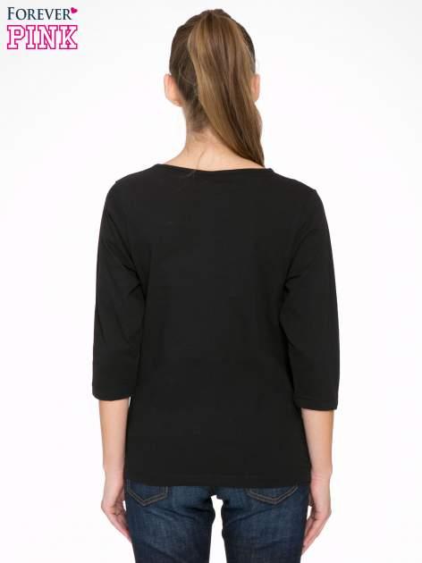 Czarna bluzka z motywem Paryża                                  zdj.                                  4