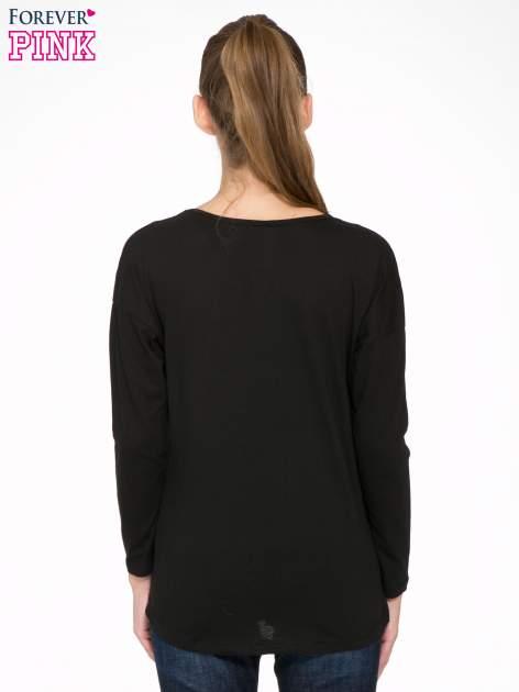 Czarna bluzka z nadrukiem Marylin Monroe                                  zdj.                                  4