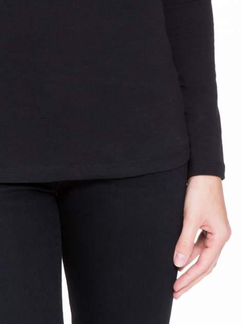 Czarna bluzka z tiulowym karczkiem                                  zdj.                                  6