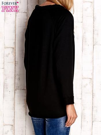 Czarna bluzka z troczkami                                  zdj.                                  2
