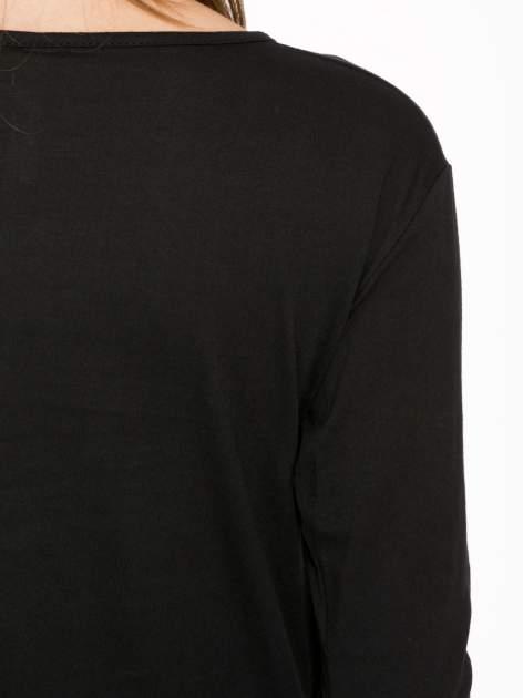 Czarna bluzka z złotym brokatowym napisem MEMORIES                                  zdj.                                  9
