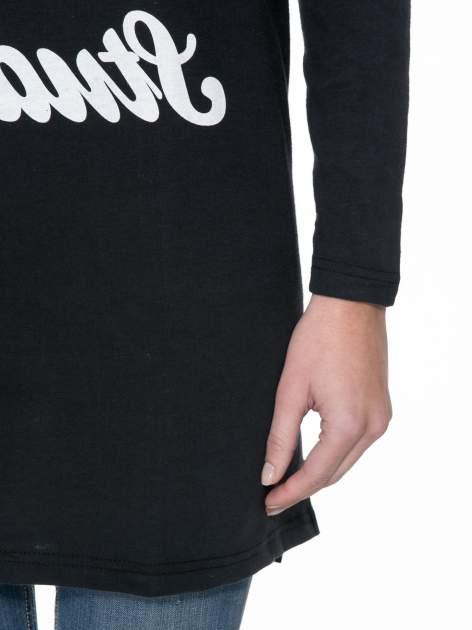 Czarna dresowa bluza z literą A w stylu baseballowym                                  zdj.                                  6
