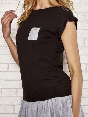 Czarna dresowa sukienka tenisowa z kieszonką                                  zdj.                                  5