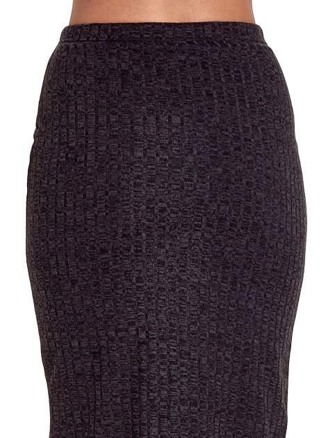 Czarna dzianinowa spódnica za kolano                                  zdj.                                  7