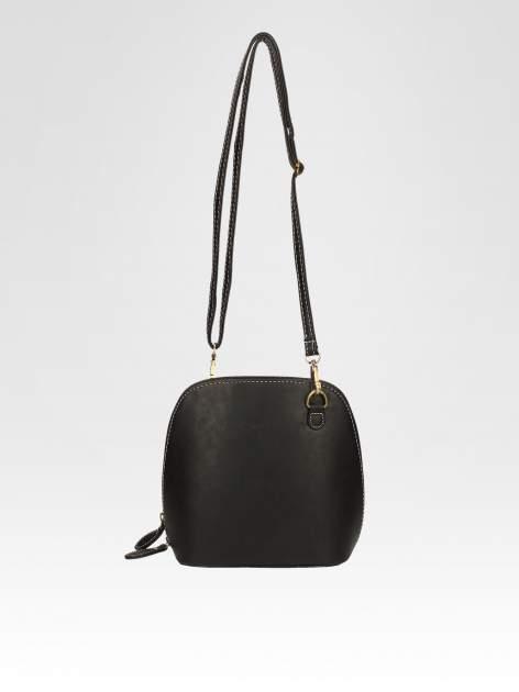 Czarna elegancka listonoszka z odpinanaym paskiem                                  zdj.                                  5