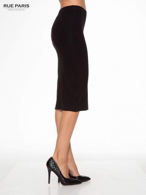 Czarna elegancka spódnica ołówkowa do kolan                                  zdj.                                  3