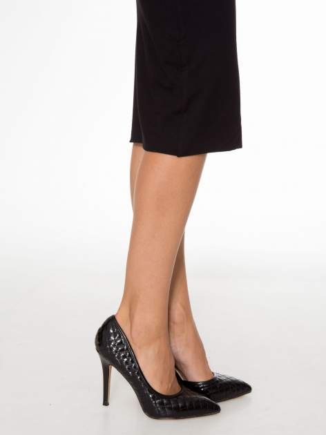 Czarna elegancka spódnica ołówkowa do kolan                                  zdj.                                  12
