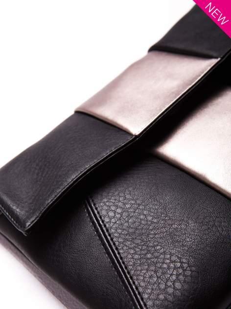 Czarna geometryczna torebka w stylu glamour                                  zdj.                                  4