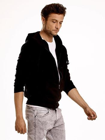 Czarna gruba bluza męska z kapturem i kieszeniami                                  zdj.                                  4