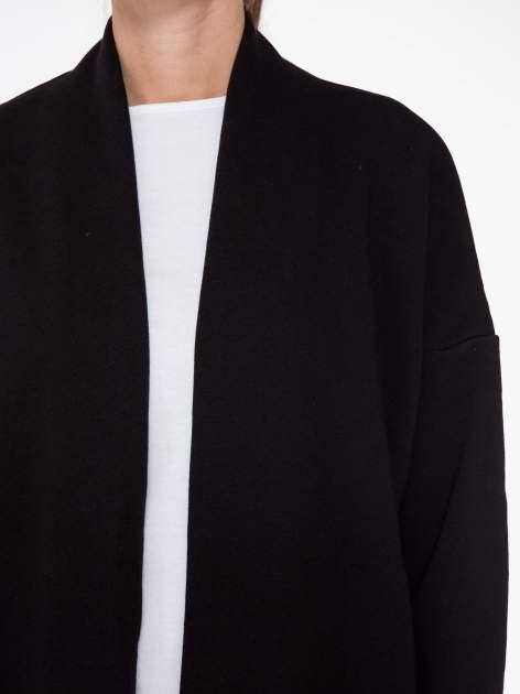 Czarna otwarta bluza dresowa                                  zdj.                                  5