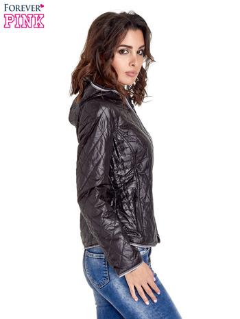 Czarna pikowana kurtka typu husky                                  zdj.                                  3