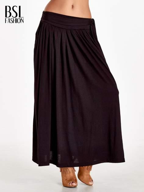Czarna plisowana spódnica maxi                                  zdj.                                  1