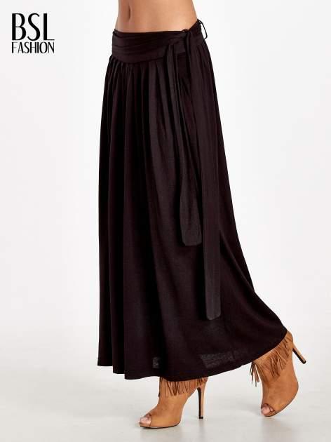 Czarna plisowana spódnica maxi                                  zdj.                                  3