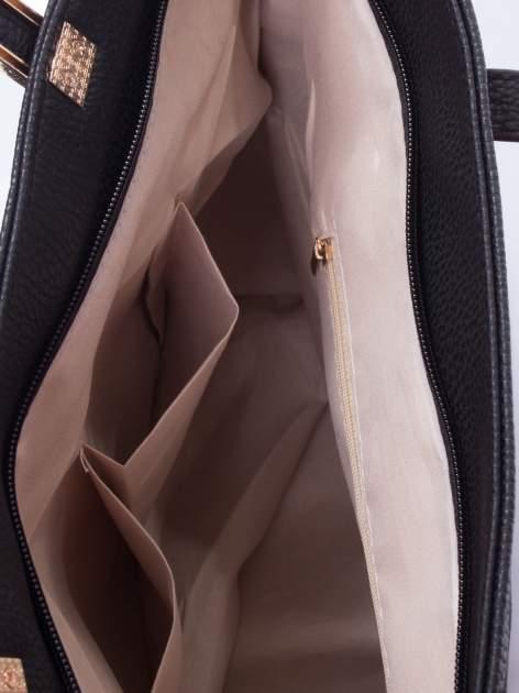 Czarna prosta torba shopper bag                                  zdj.                                  5