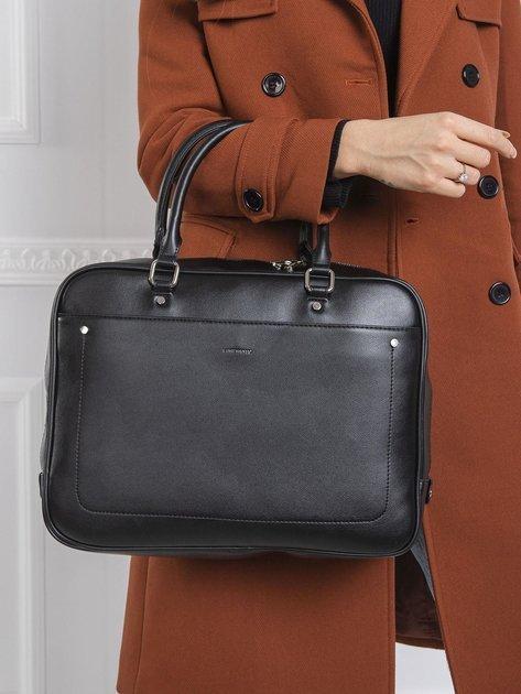 Czarna prostokątna torba damska