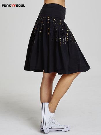 Czarna rozkloszowana spódnica z cekinami Funk n Soul                                  zdj.                                  4