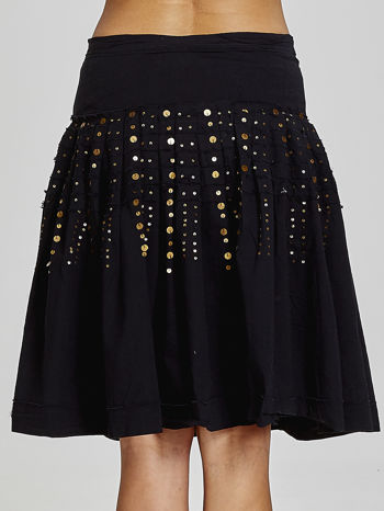 Czarna rozkloszowana spódnica z cekinami Funk n Soul                                  zdj.                                  5