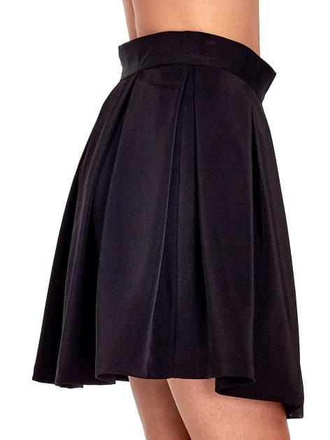 Czarna rozkloszowana spódnica z kontrafałdami                                  zdj.                                  6