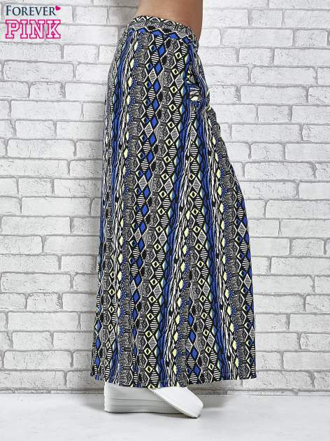 Czarna spódnica maxi w azteckie wzory                                  zdj.                                  3