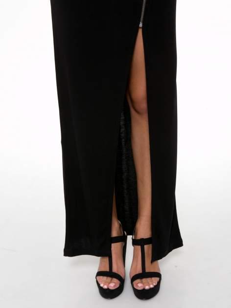 Czarna spódnica maxi z asymetrycznym zamkiem                                  zdj.                                  7