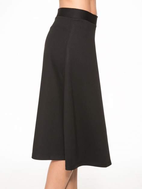 Czarna spódnica midi w kształcie litery A                                  zdj.                                  9