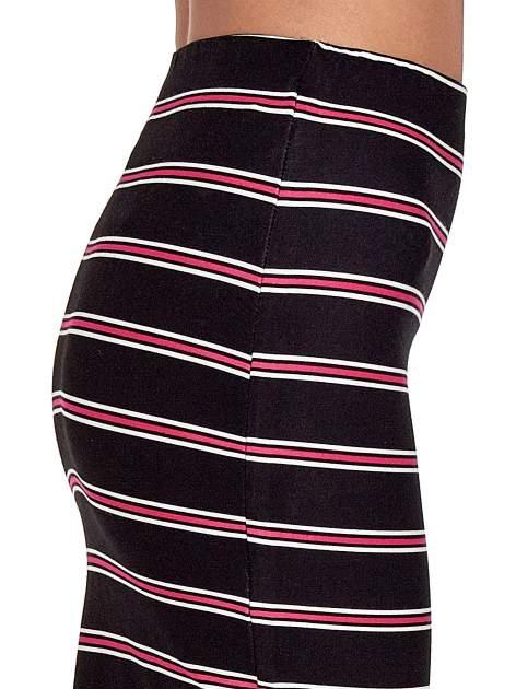 Czarna spódnica midi w różowe paski                                  zdj.                                  6