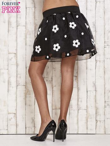 Czarna spódnica mini w kwiaty                                  zdj.                                  3
