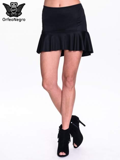 Czarna spódnica mini z falbanką                                  zdj.                                  1
