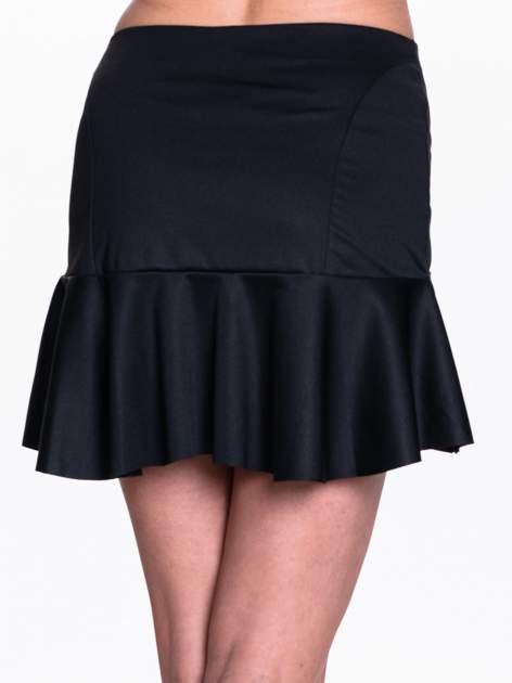 Czarna spódnica mini z falbanką                                  zdj.                                  6