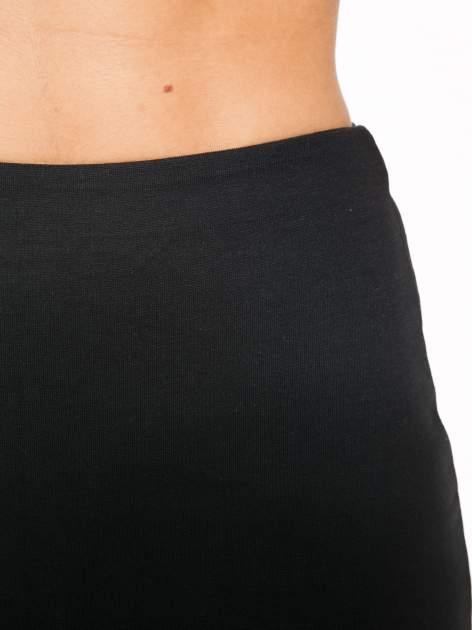 Czarna spódnica tuba z wydłużanym tyłem                                  zdj.                                  9