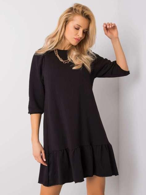 Czarna sukienka Adoria RUE PARIS