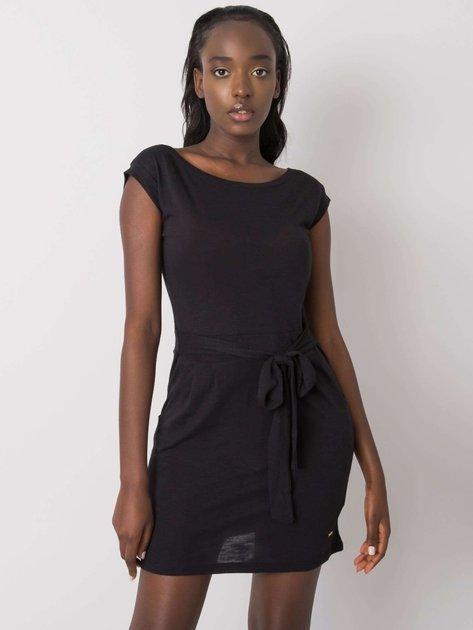 Czarna sukienka Letitia NIE ZNASZ MNIE